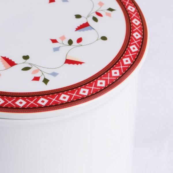 Telerosa - Aust-Agder stort smykkeskrin i porselen