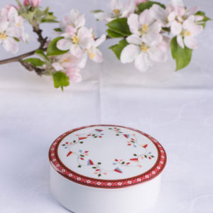 Telerosa - Aust-Agder lite smykkeskrin i porselen
