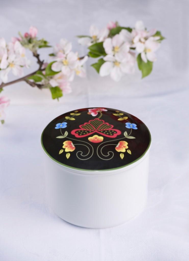 Telerosa - Gudbrandsdal stort smykkeskrin i porselen
