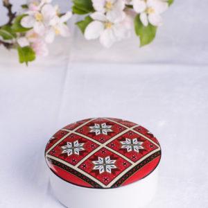 Telerosa - Hardanger lite smykkeskrin i porselen
