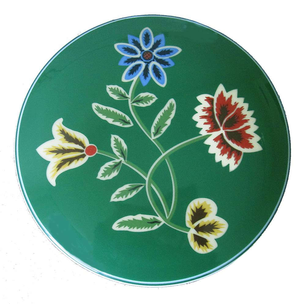 Telerosa - Nordland Grønn smykkeskrin i porselen