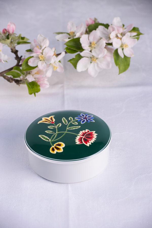 Telerosa - Nordland Grønn lite smykkeskrin i porselen