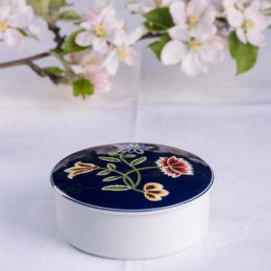 Telerosa - Nordland Blå lite smykkeskrin i porselen