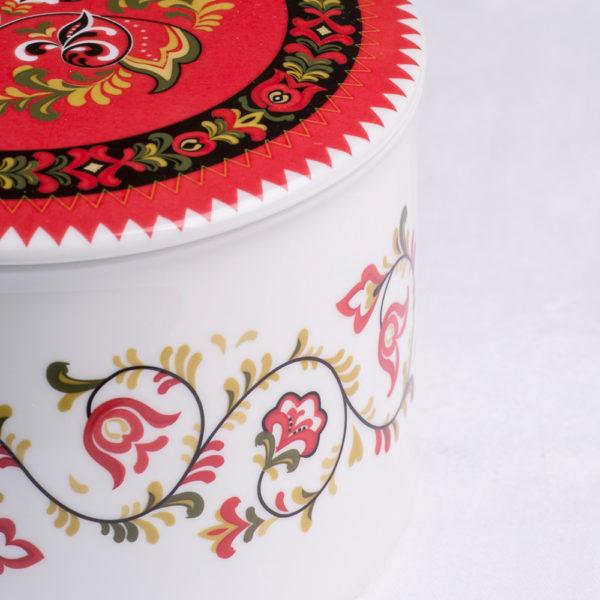 Telerosa - Telemark-Øst stort smykkeskrin i porselen