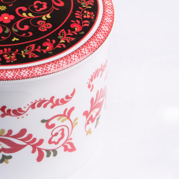 Telerosa - Telemark-Vest stort smykkeskrin i porselen