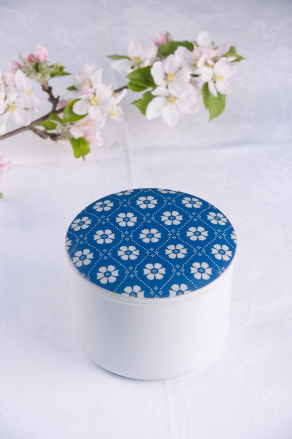 Telerosa - Trøndelag Blå stort smykkeskrin i porselen