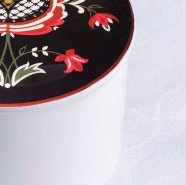 Telerosa - Trøndelag Sør stort smykkeskrin i porselen