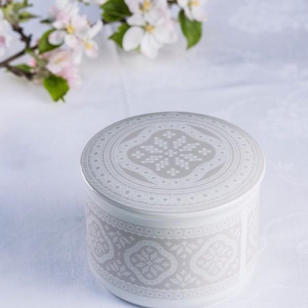 Telerosa - Tradisjon Grå stort smykkeskrin i porselen