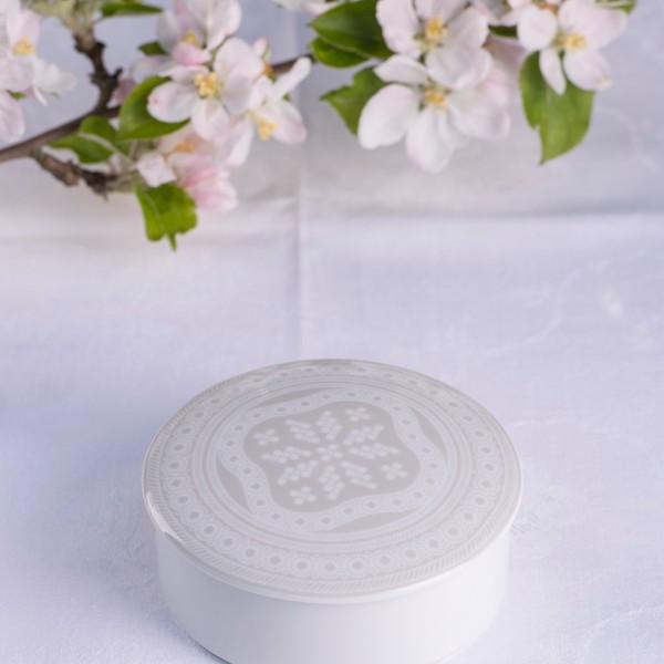 Telerosa - Tradisjon Grå lite smykkeskrin i porselen