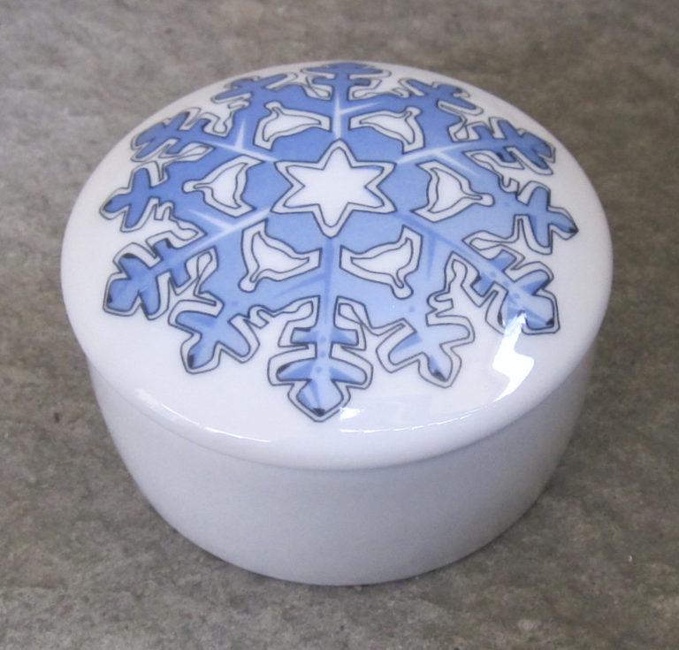 Iskrystall blå miniskrin